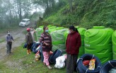 Agricultural inputs provided to slide-affected families and farmers of Lingchom Tingda