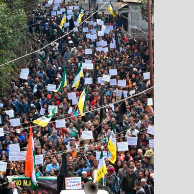 Protest rally in hills against CAA, NRC