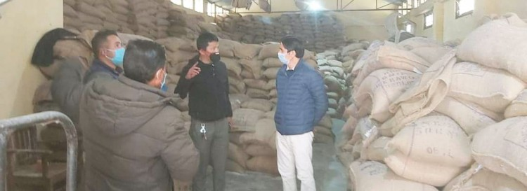 Minister Upreti conducting surprise inspections of Food godowns
