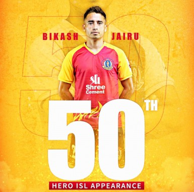 A First for Sikkim Football, Bikash Jairu completes 50 ISL matches