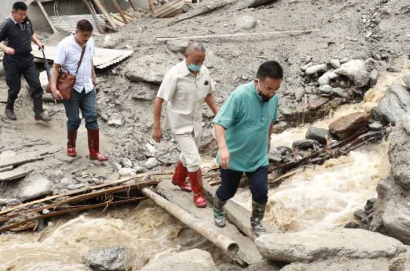 Golay reach Passingdong, takes stock of slide damages