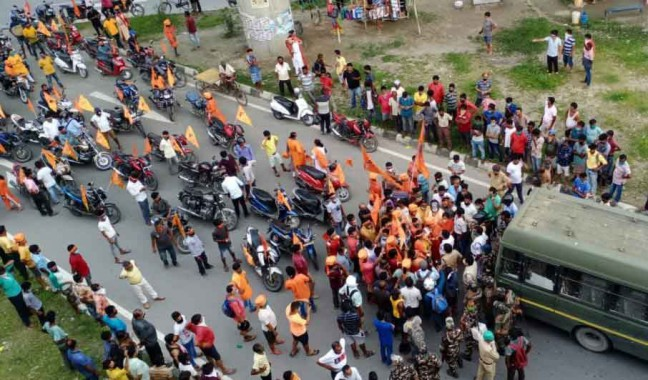 BJP supporters arrested over bike rally in Bagdogra