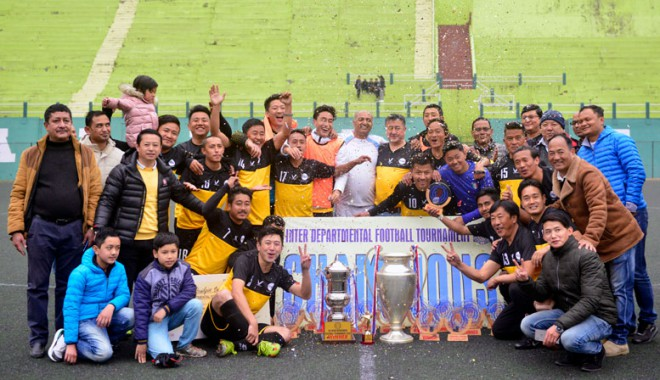 Roads & Bridges wins inter-department football tournament