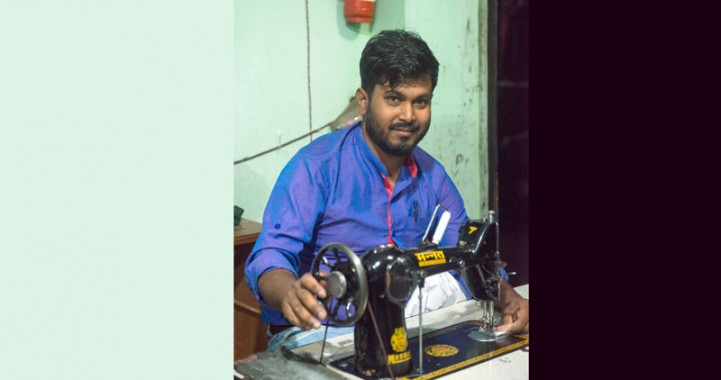 Proud to bring my skill into use at this time of crisis: Tailor Karim